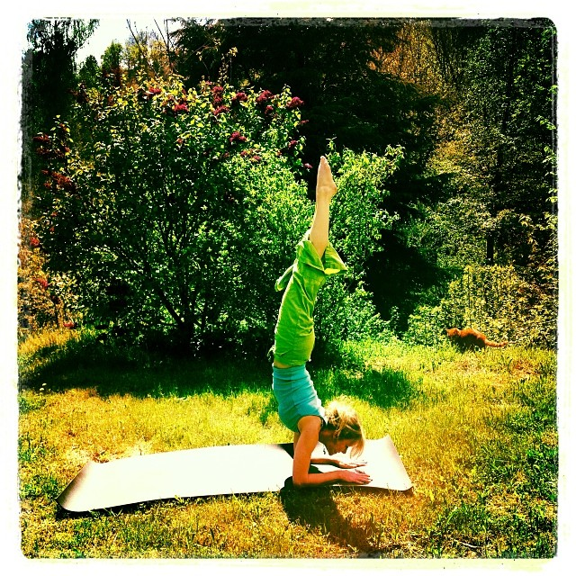 Happy Spring Equinox, darlings! (My other job, when not drawing pretty letters!  Ashtanga yoga classes in Cévennes, France). ☀️