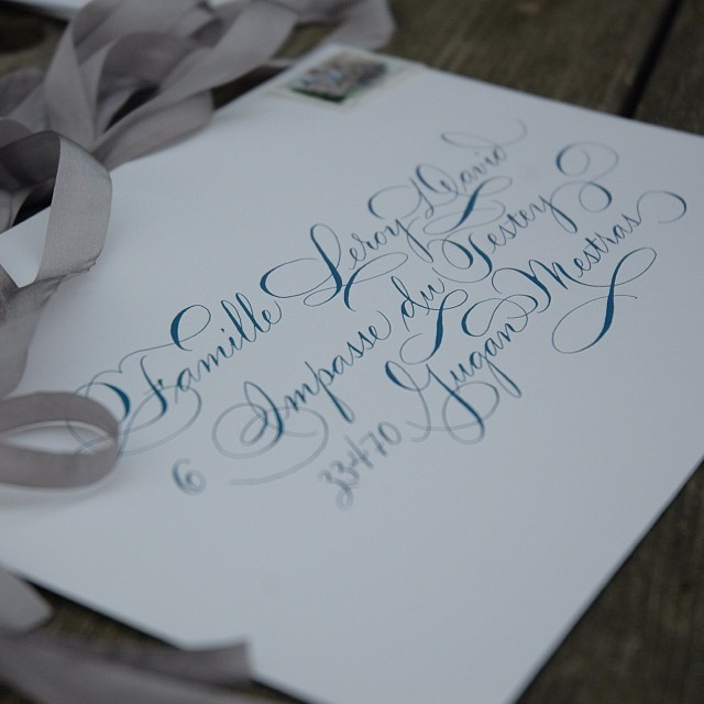 #calligraphy #pointedpen #frenchwedding  (à Studio French Blue )