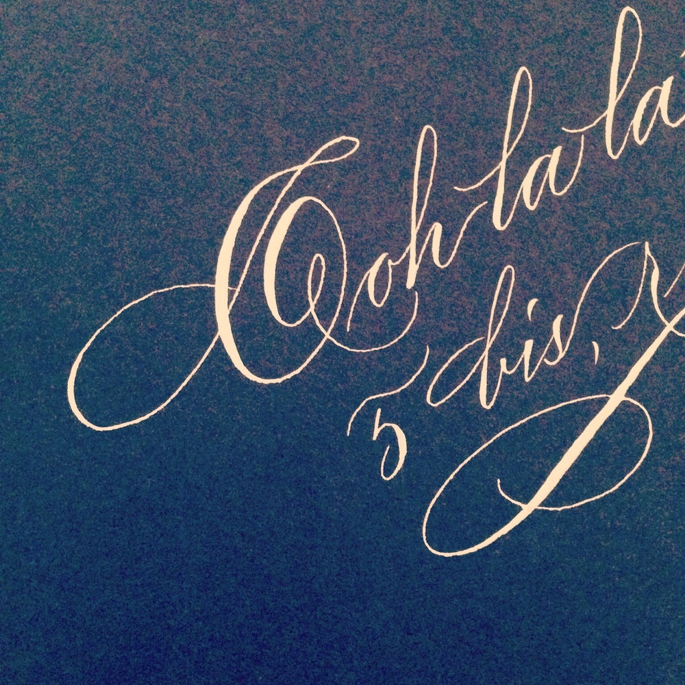 Ooh la la, calligraphy by StudioFrenchBlue.com