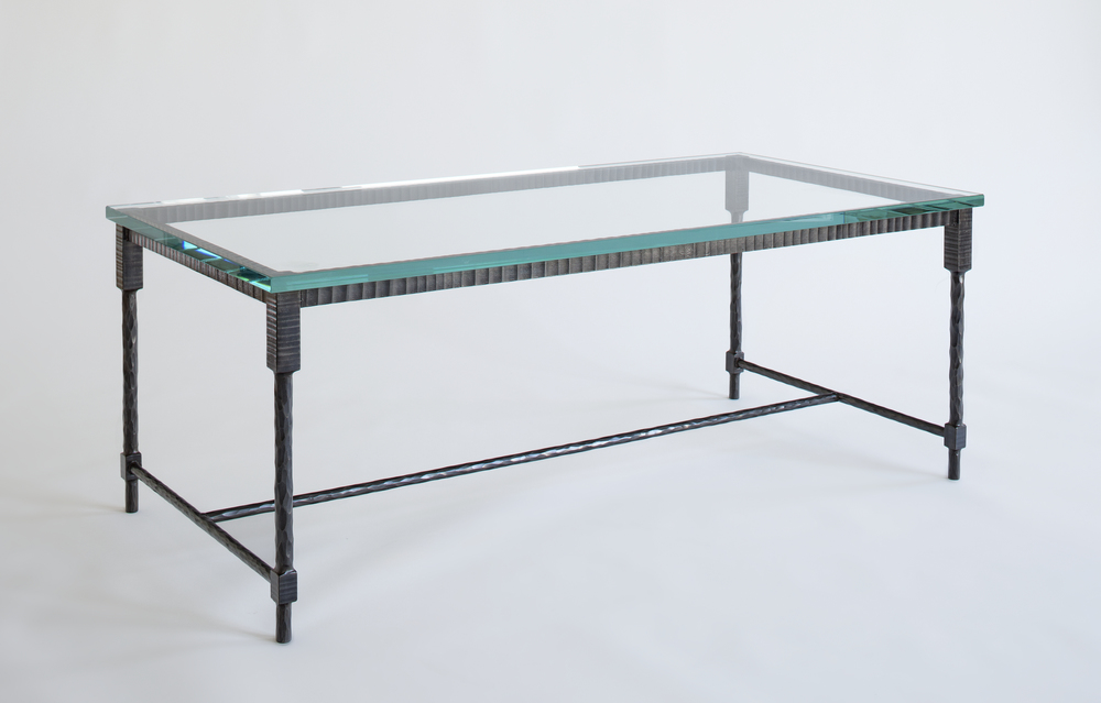 Forged Leg Coffee Table with H Stretcher