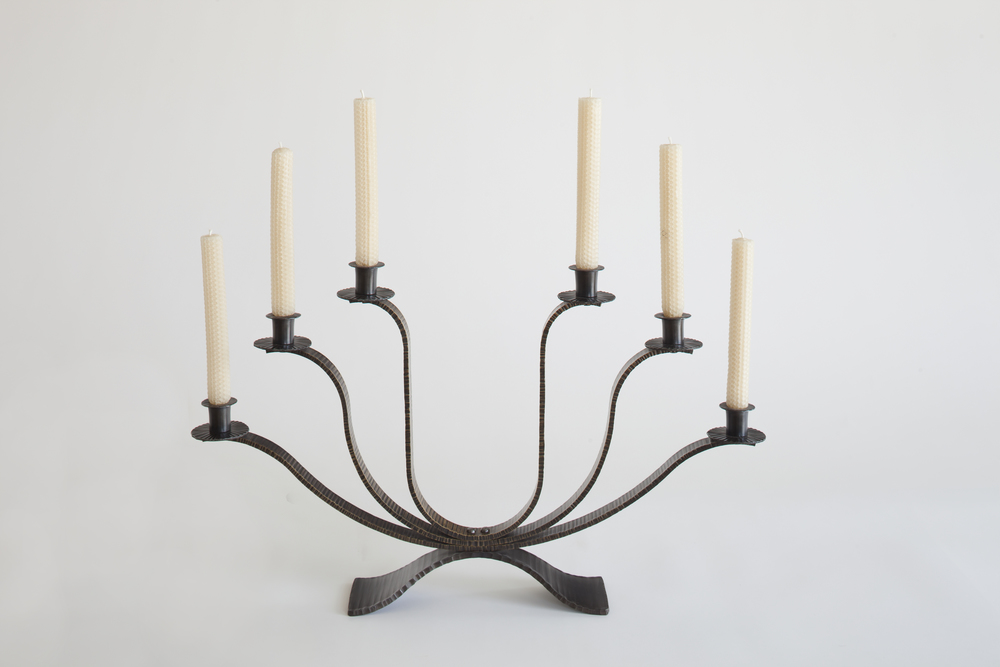 Bronze and Steel Candelabra