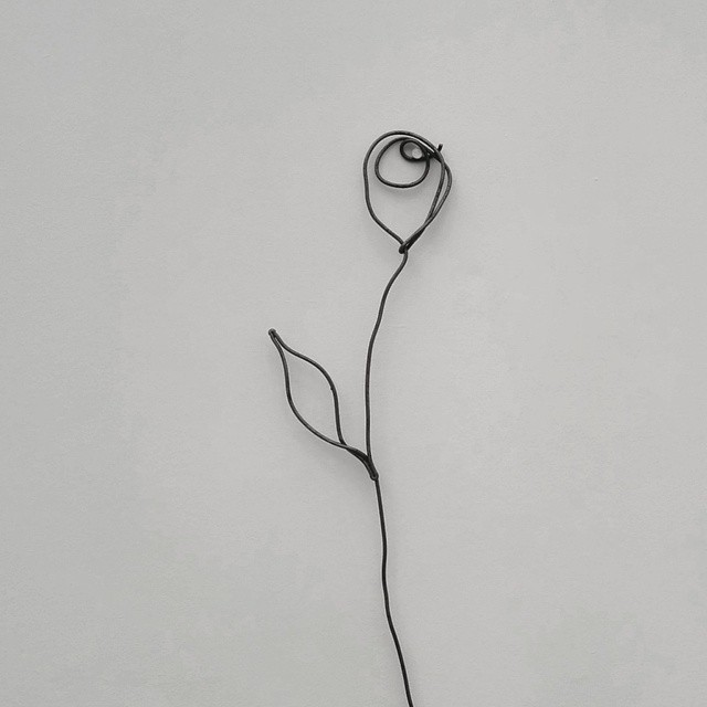 'A Rose' by Petrit Halilaj #steel #FriezeNewYork