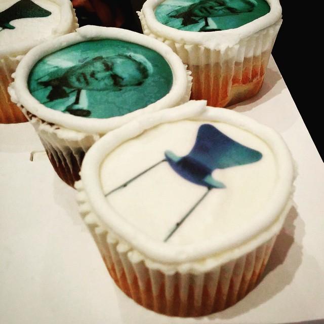 Fritz Hansen cupcake time! #NYCxDesign