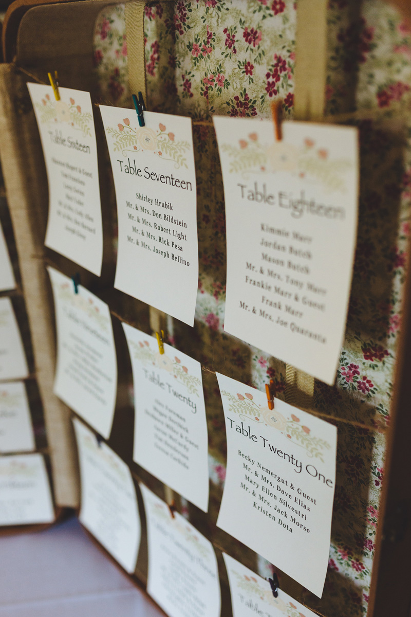 Antique Wedding Seating Chart