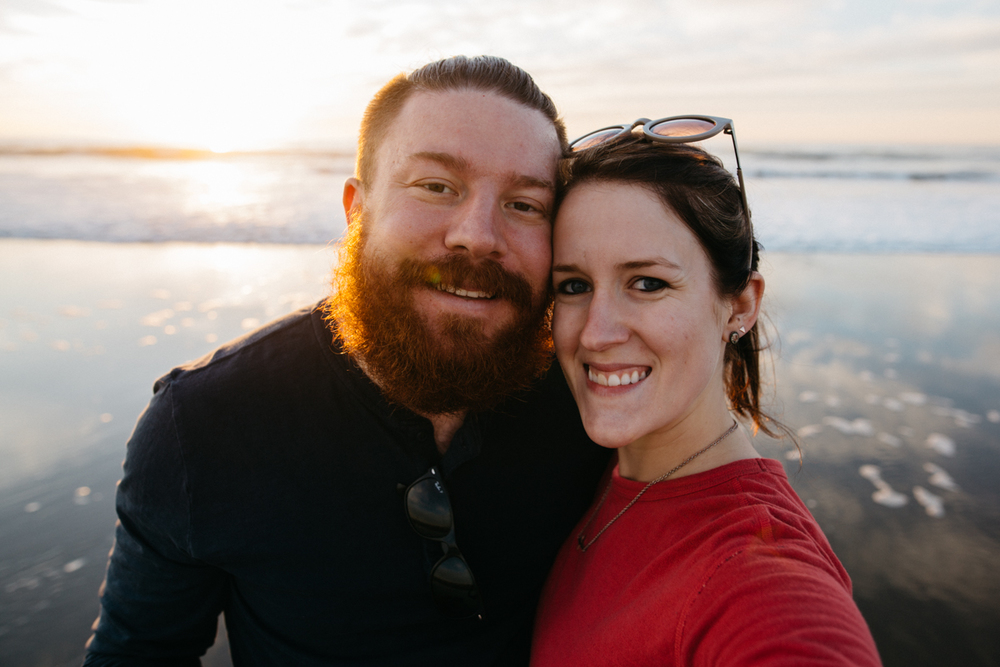 One of our only honeymoon selfies.