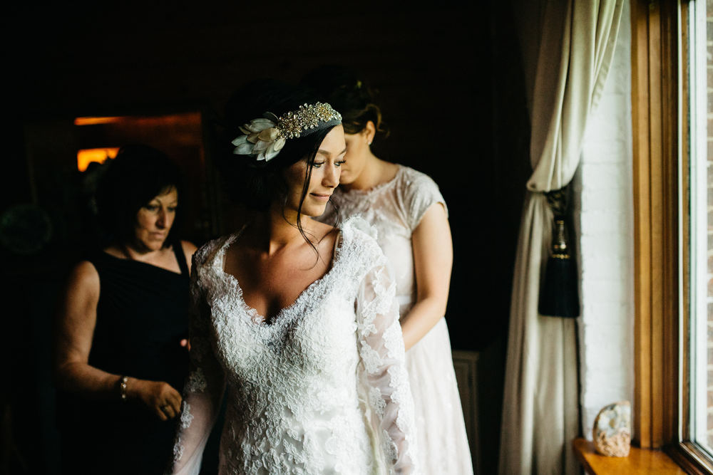 Lace Wedding Dress in Ohio Wedding