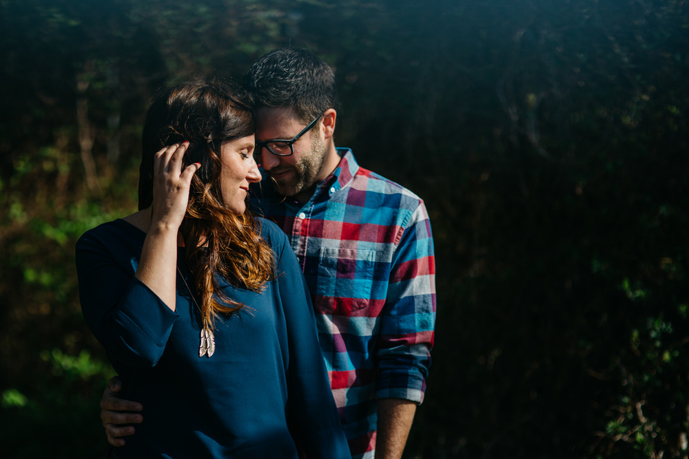 A beautiful engagement session in an old greenhouse near Lake Erie.