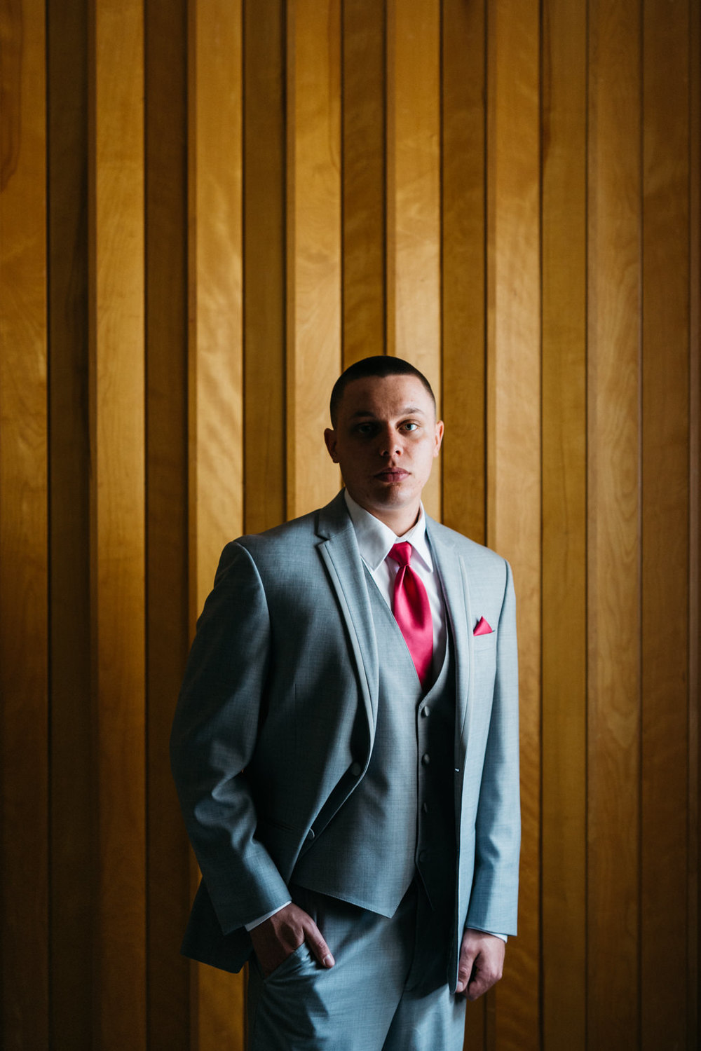 Groom photography at Wauseon, Ohio wedding