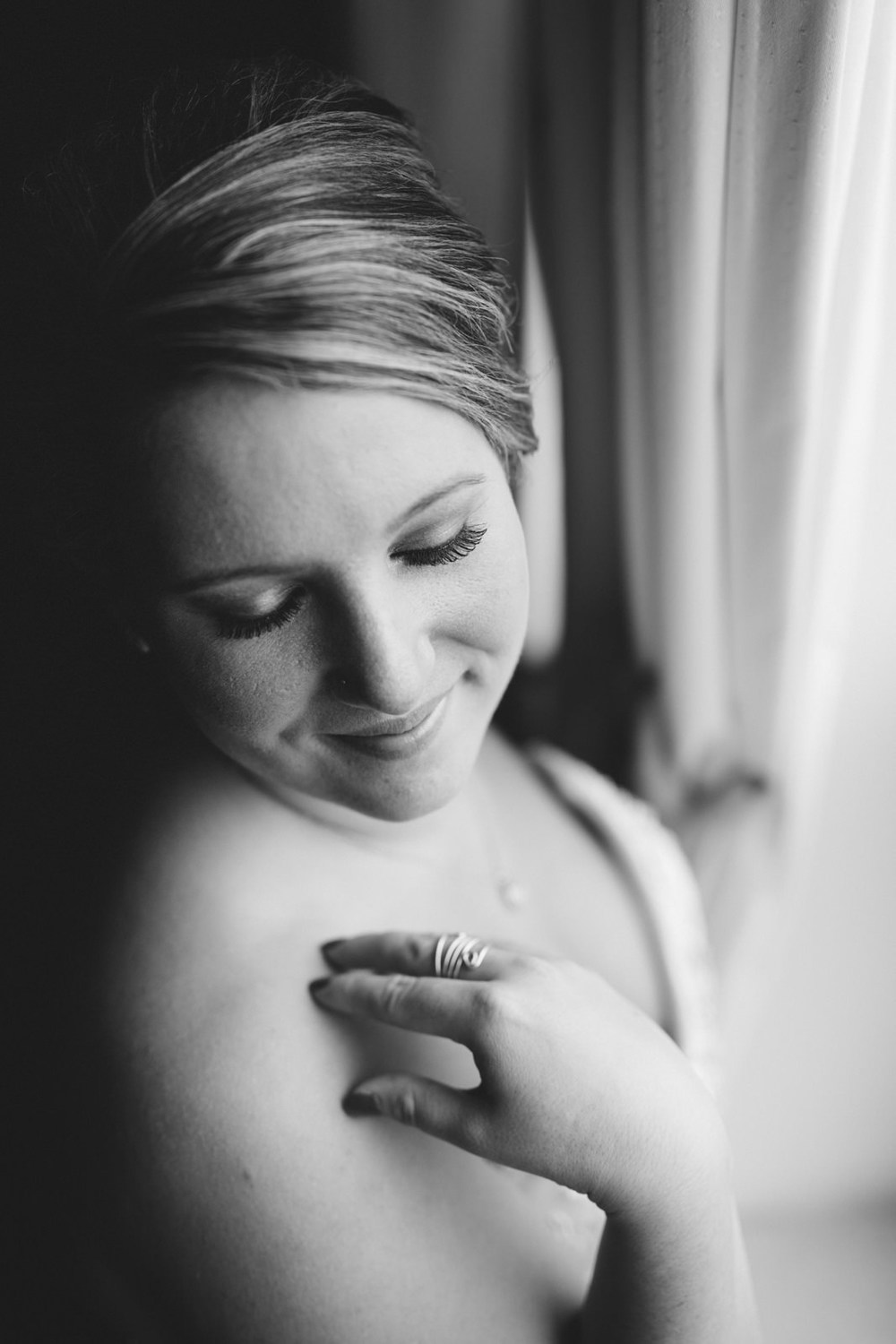 Bridal portrait before wedding in Wauseon, Ohio.