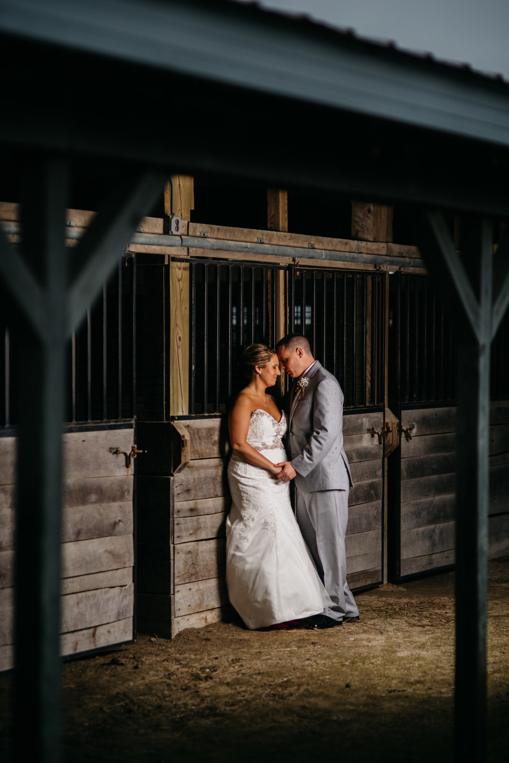 Wedding Photography in Horse Stables at Fulton County Fairgrounds