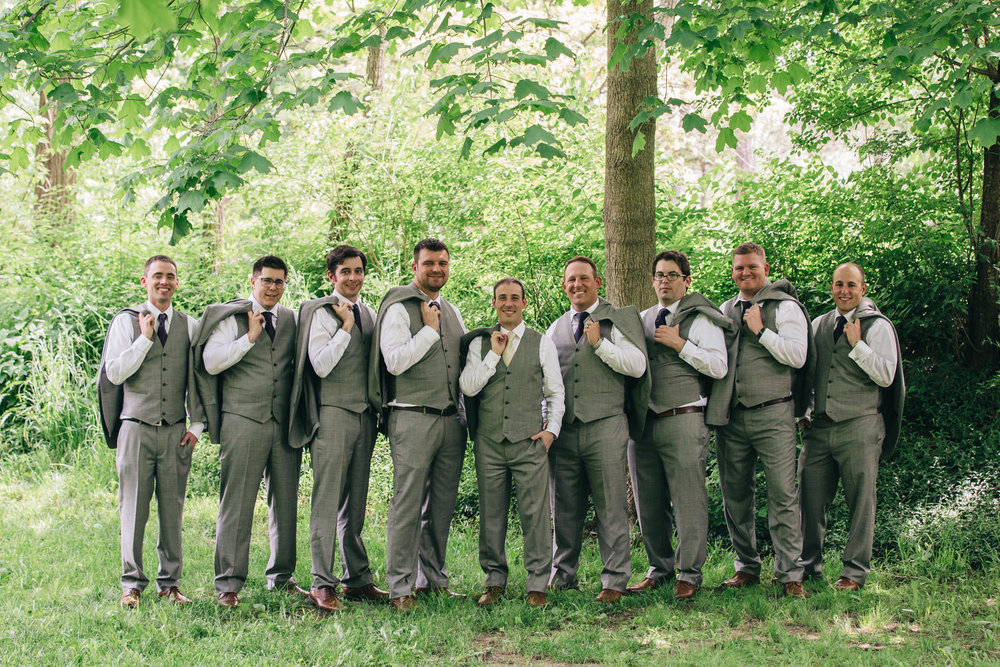 Groomsmen portrait at Sidecut Park in Maumee.