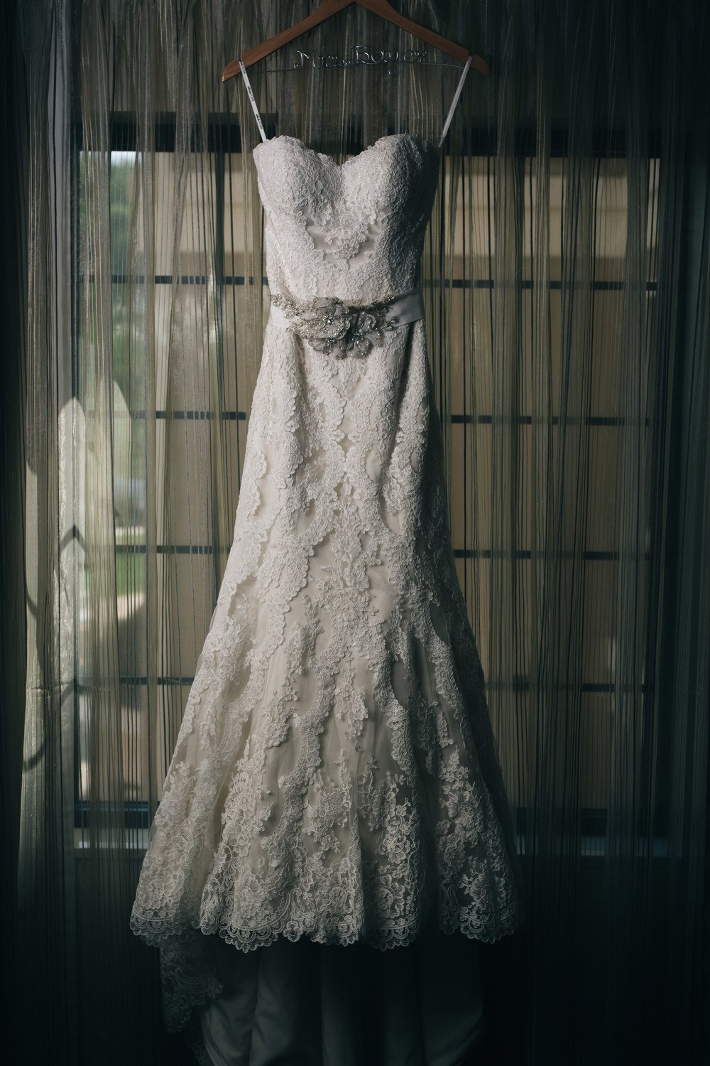 Gorgeous detailed lace wedding dress in Canton, Ohio.