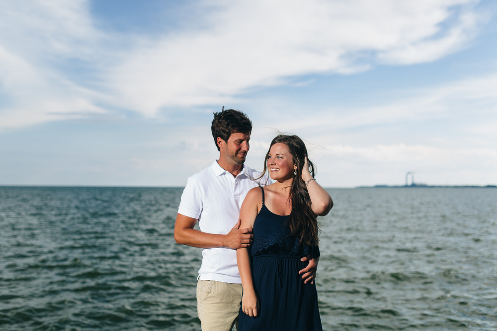 Engagement session in Michigan on Lake Erie.