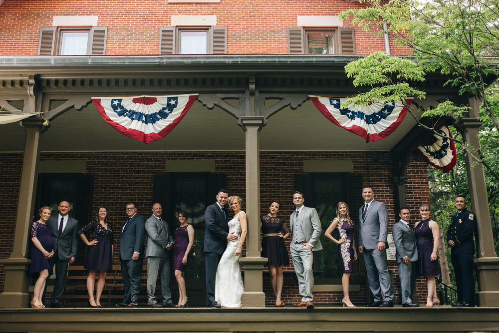 Bridal party at the Hayes Presidential Museum in Sandusky, Ohio.