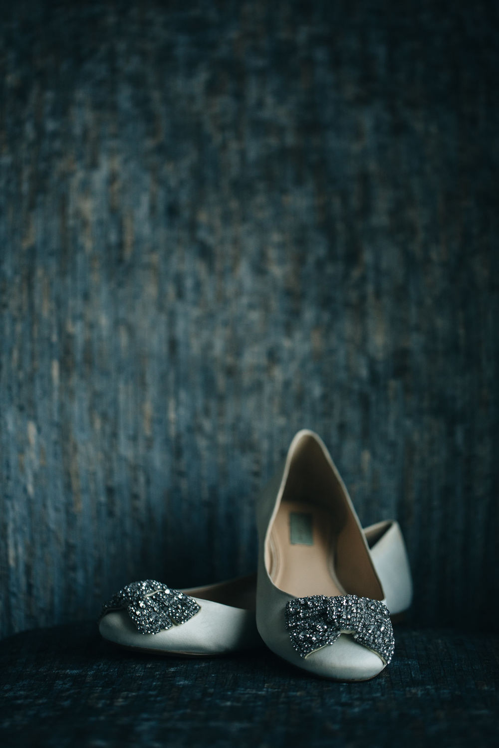 Beautiful bridal wedding shoes