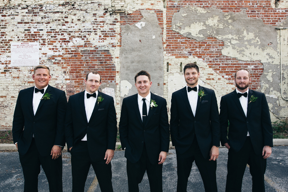 Groomsmen portrait in Downtown Toledo, Ohio.