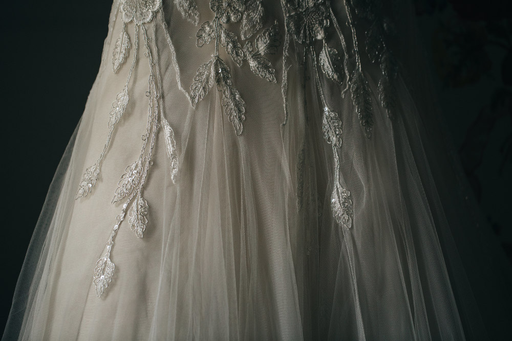 Vintage wedding gown from Belle Amour Bridal.