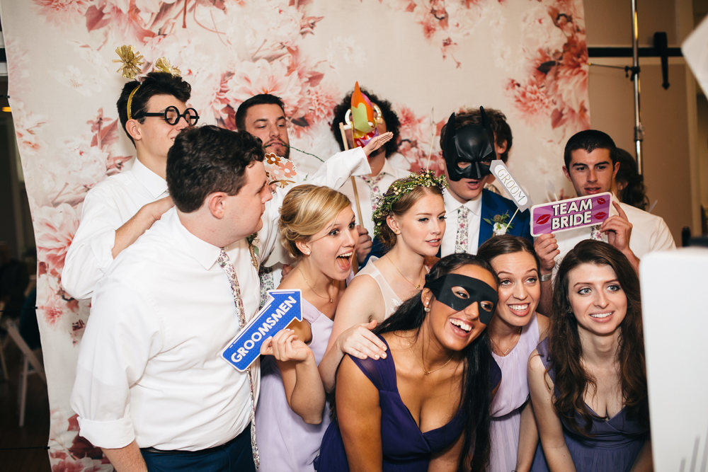 Bridal party in Swatch Photobooth.
