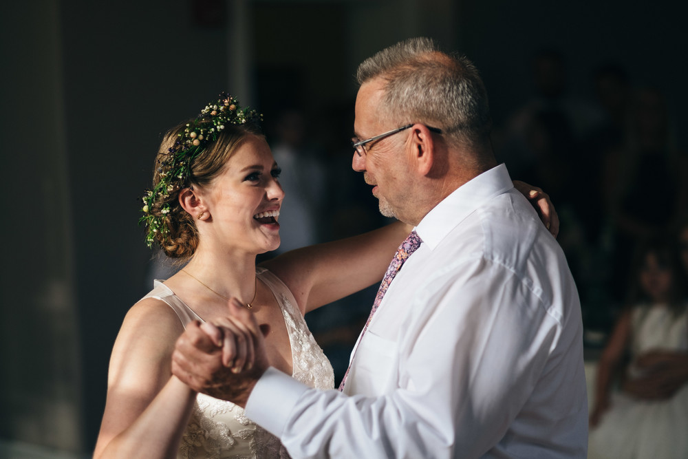 Father Daughter dance at wedding reception.