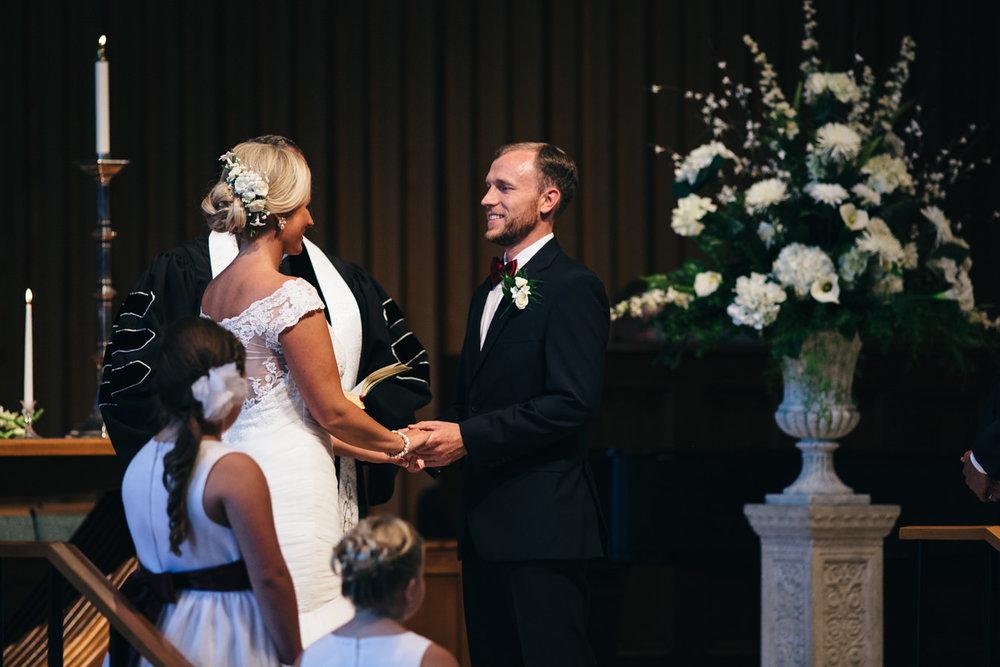 Wedding Ceremony at Epworth United Methodist Church in Toledo.