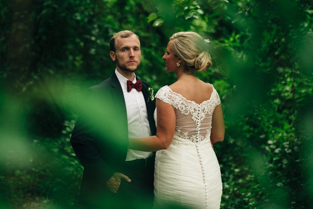Bride and groom wedding photography at Wildwood Metropark in Toledo, Ohio.