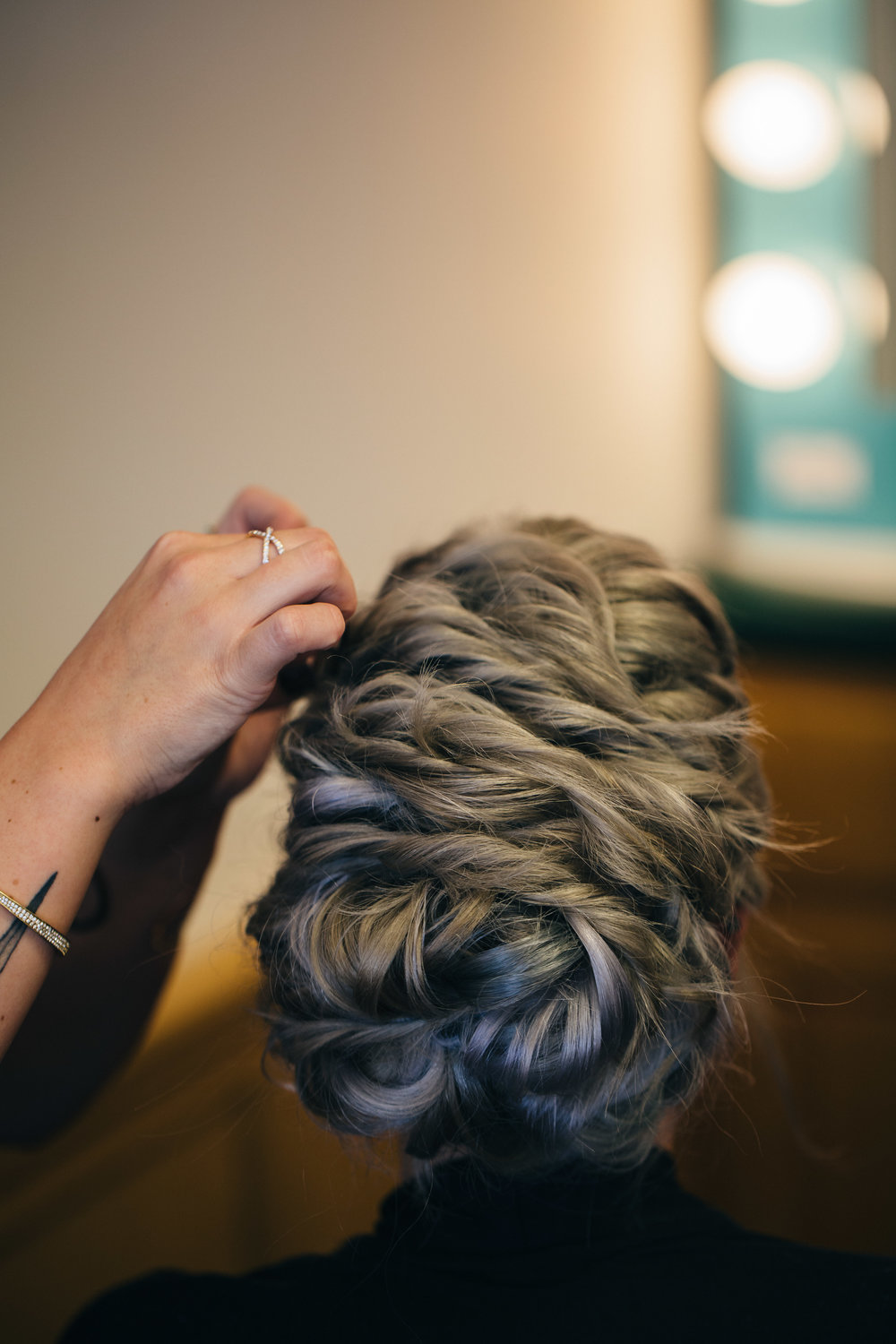 Wedding hair from Serenity Salon & Spa in Bowling Green, Ohio.