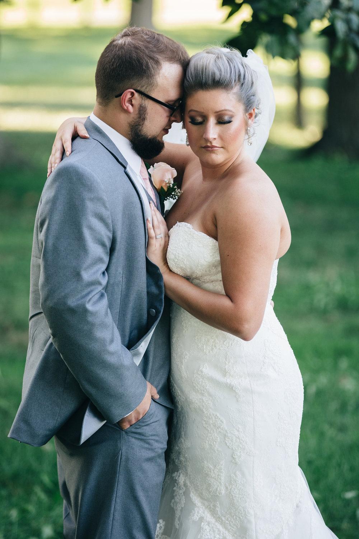 Grey and blush wedding in Northwest Ohio