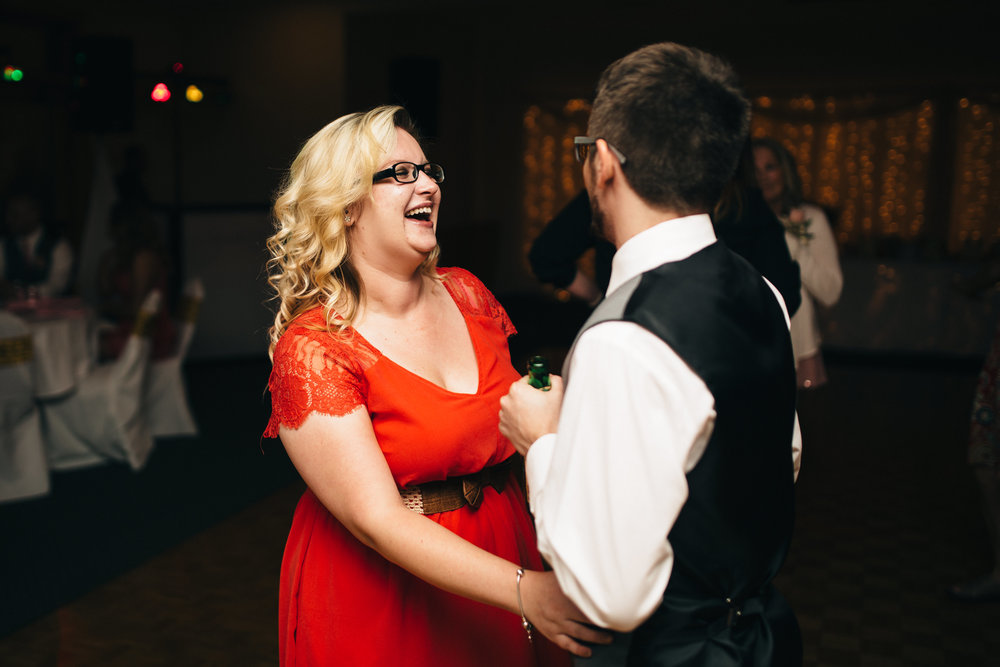 Wedding reception photography at Stone Ridge Golf Club.