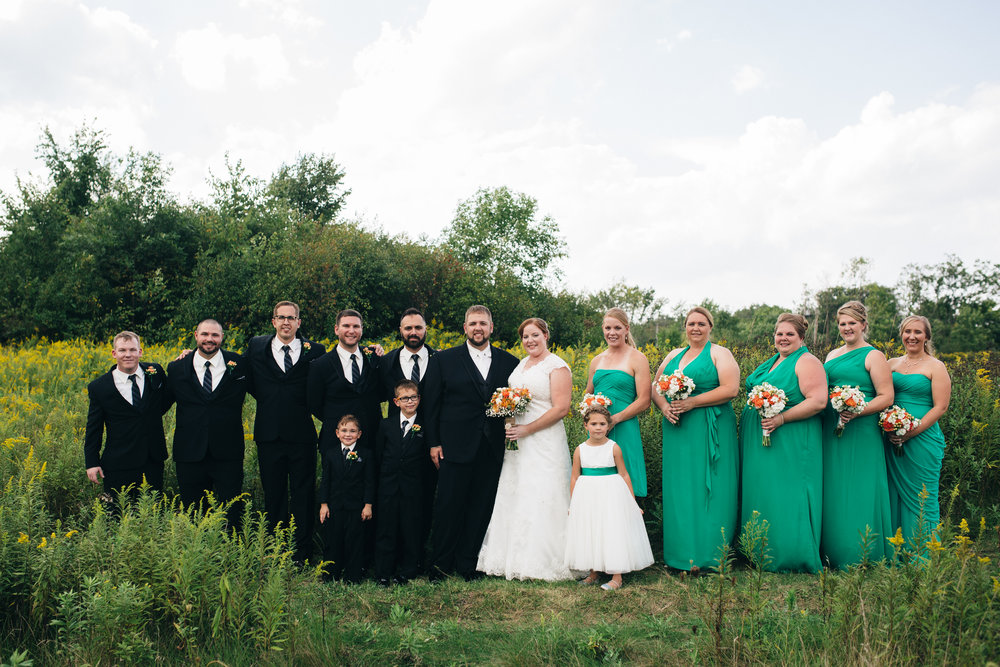 Wedding party at Walden Inn & Spa near Cleveland, Ohio.