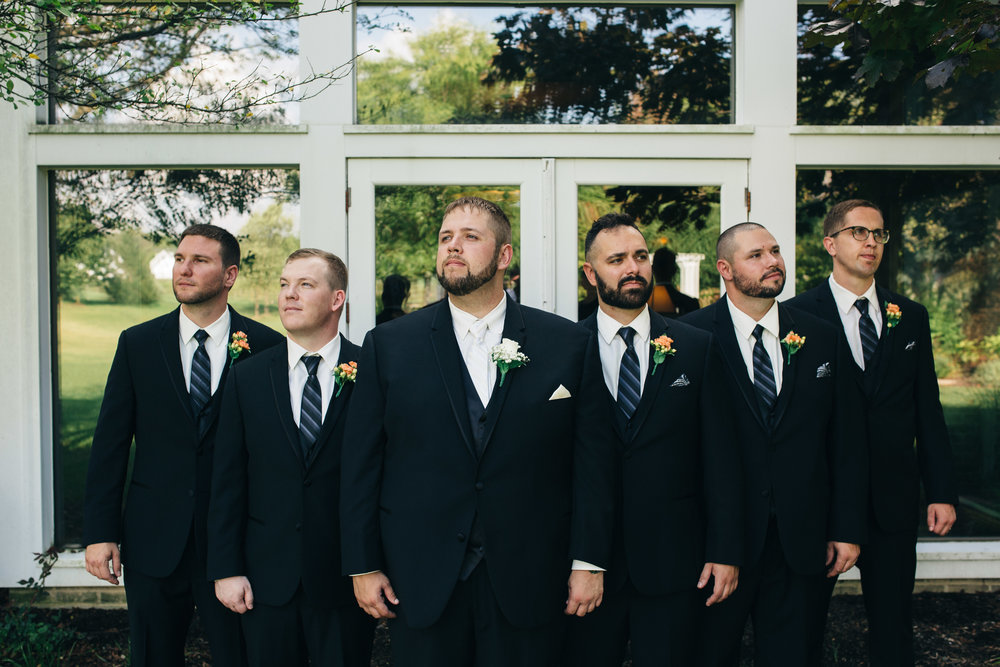 Groomsmen wedding photography at Walden Inn.