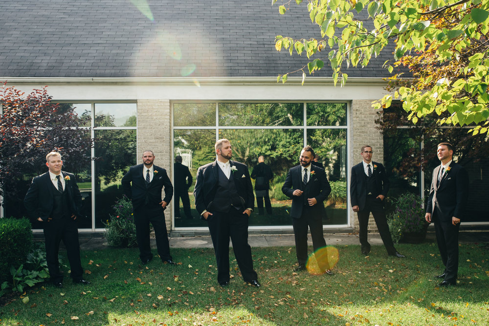 Groomsmen photography at Walden Inn & Spa.