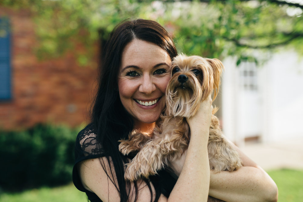 Engagement session with dog in Perrysburg, Ohio.
