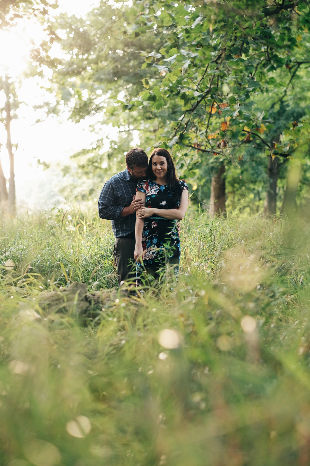Sunset engagement session at Sidecut Metropark