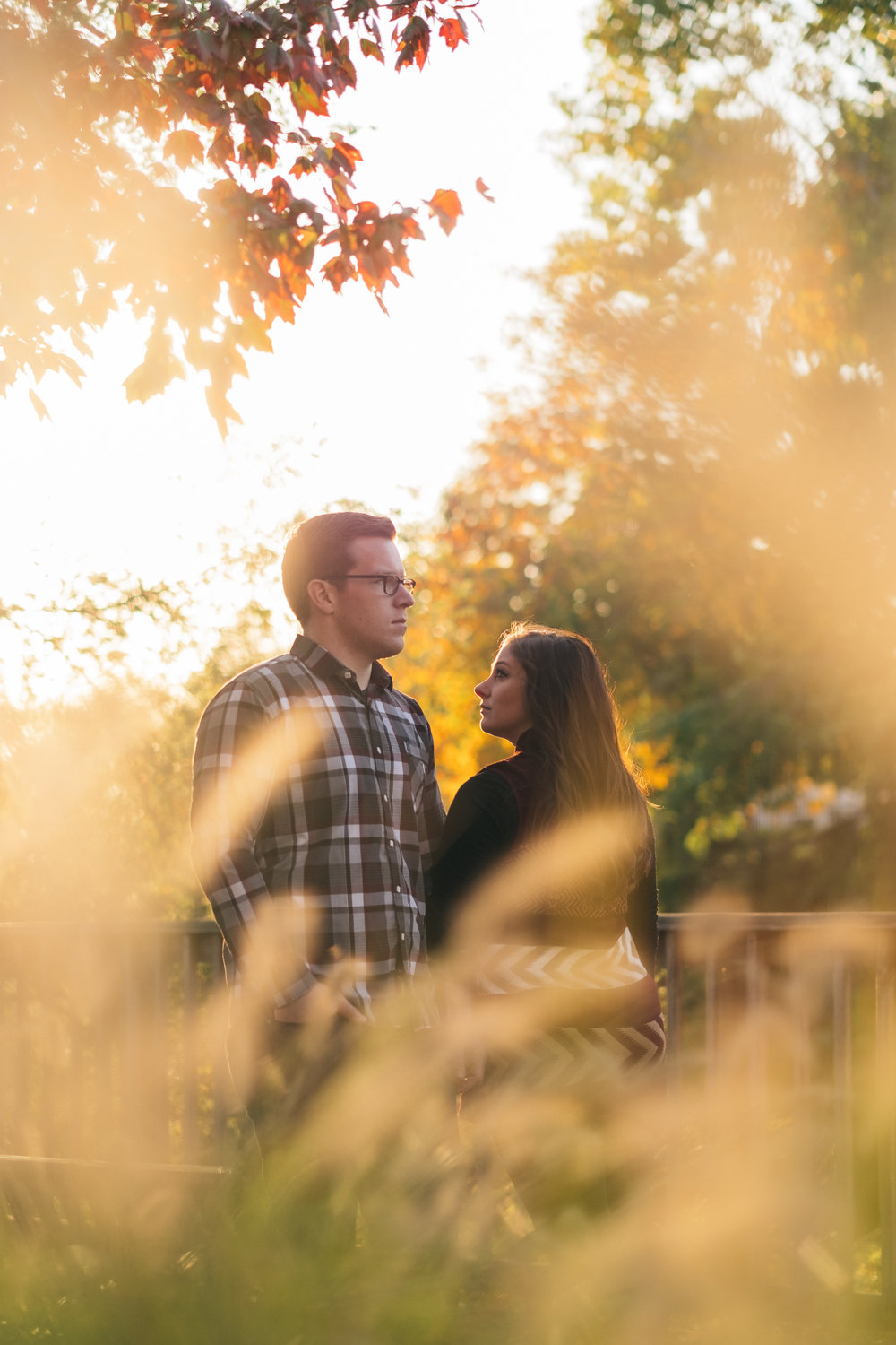 Engagement session in downtown Toledo at Middlegrounds Metropark.