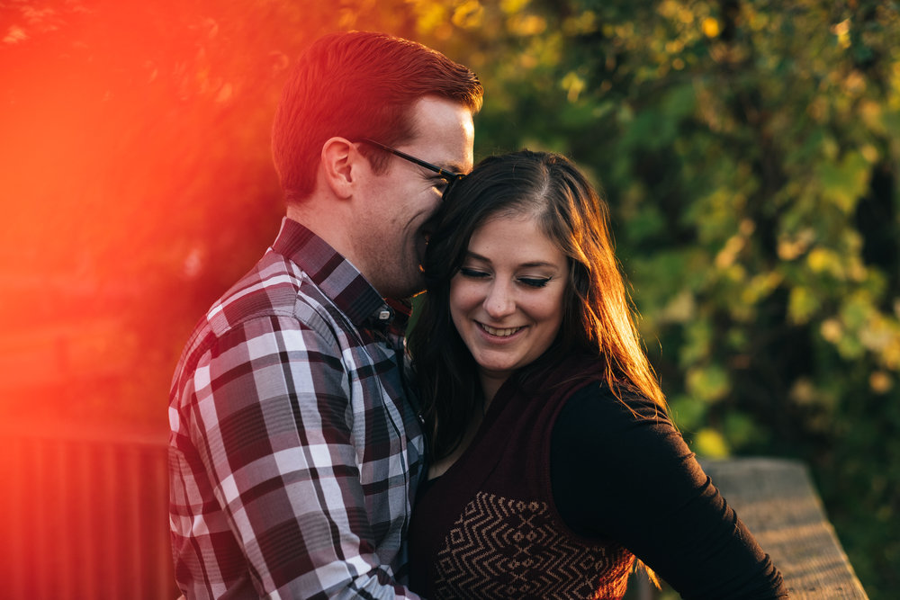 Engagement pictures at Middlegrounds Metropark.