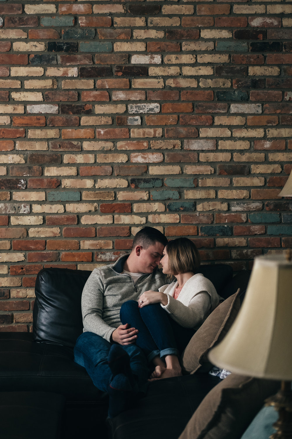 At-home engagement session in Royal Oaks, Michigan.
