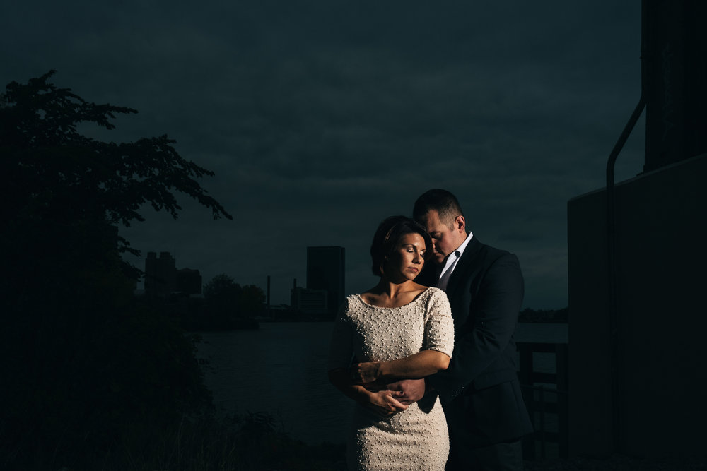 Engagement session photography at Middlegrounds MetroPark in Downtown Toledo.