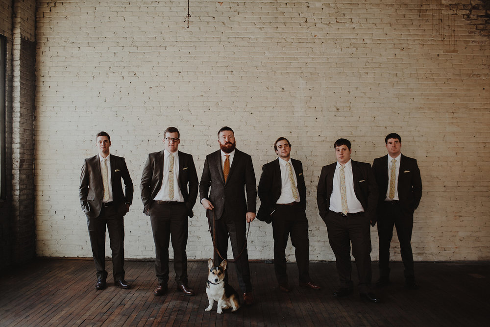 Urban wedding groomsmen inspiration