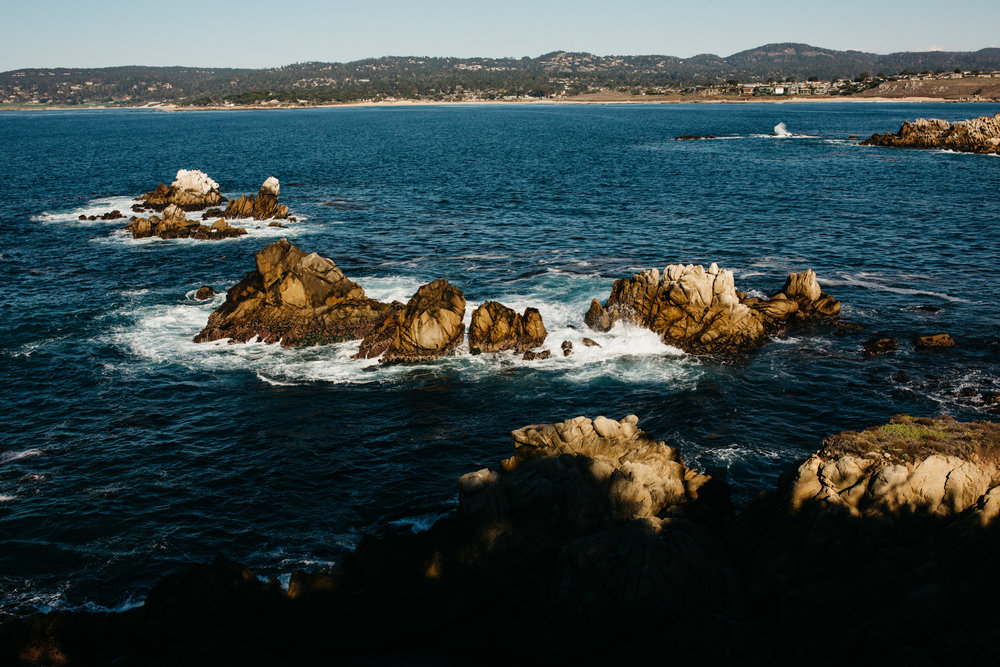 Cliffs off the coast of Carmel, California.