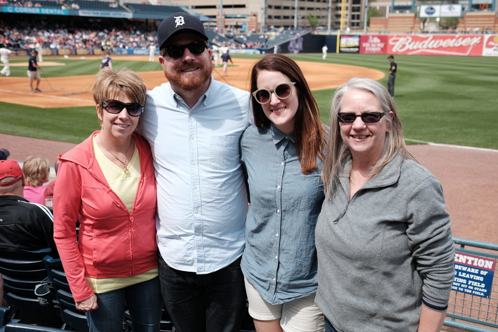 Mother's Day at the Toledo Mudhen's Game in downtown Toledo.