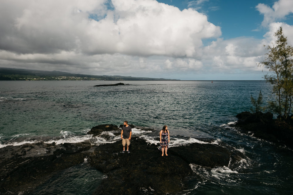 Hawaii ocean wedding and engagement photography.