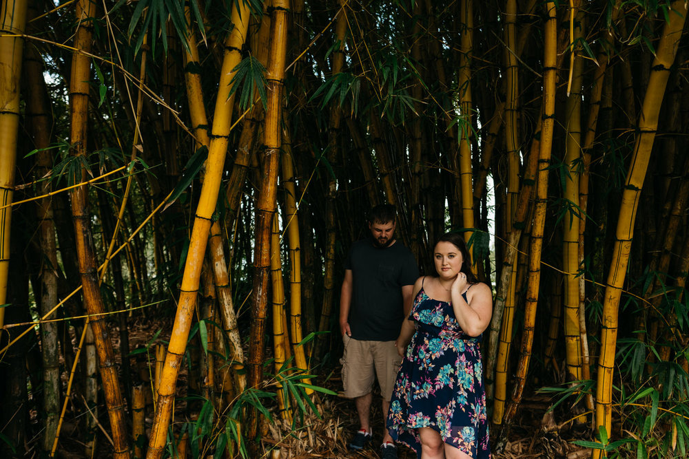 Exploring Hawaii on an engagement session destination wedding.