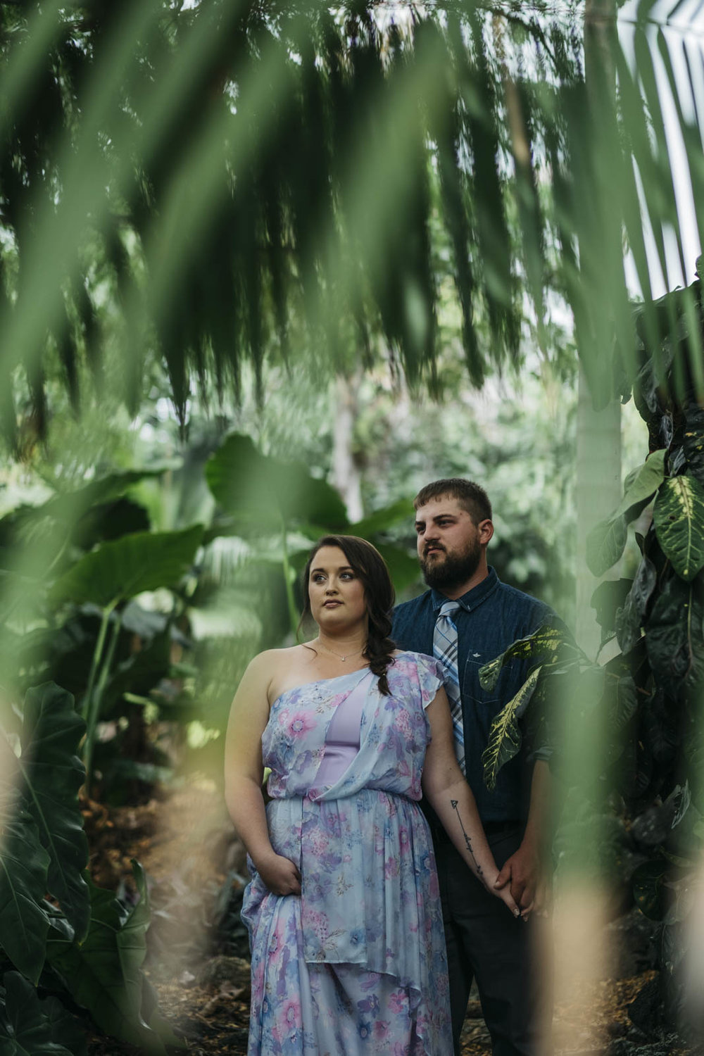 Portrait of the bride and groom in Hawaii before their wedding ceremony.