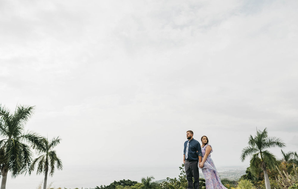 Picture of the bride and groom together in Hawaii.