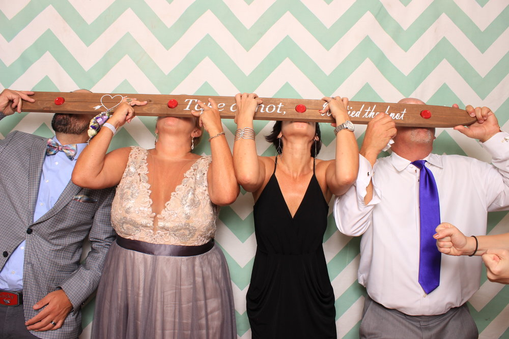 Swatch Photobooth at wedding doing shots