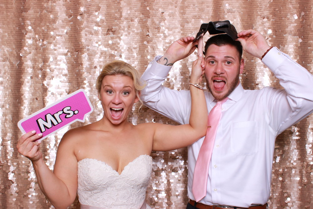 Brenna and Aaron in Swatch Photobooth at their wedding