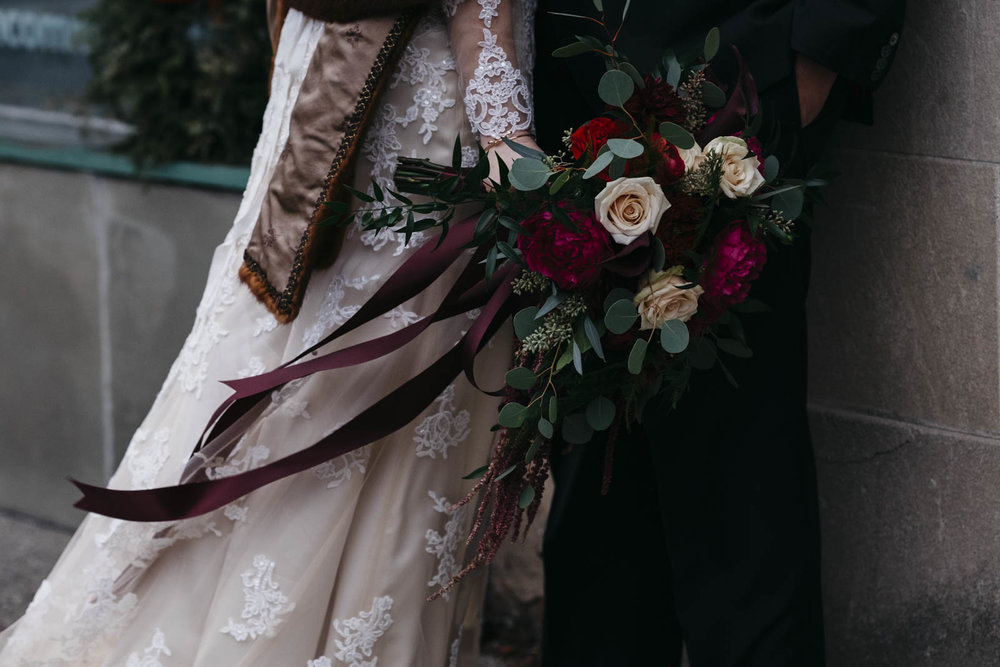 Winter bridal bouquet by Bartz Viviano.