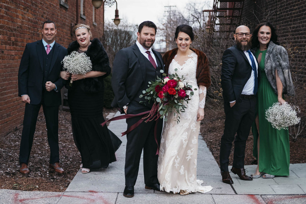 Bridal party in downtown Maumee, Ohio.