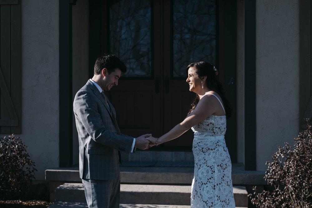 Toledo, Ohio wedding photography of bride and groom.