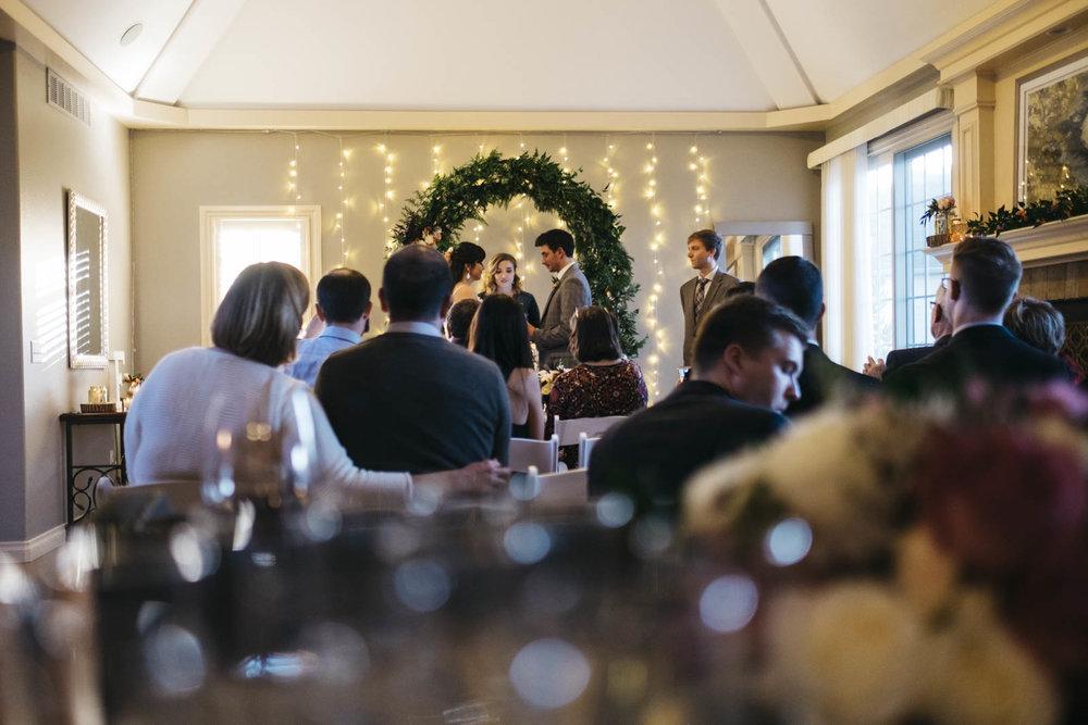 DIY Wedding Ceremony in Toledo, Ohio.